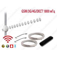 Комплект MIMO 16 дБ GSM/3G/4G/Dect 1800 мГц с Wi-Fi модемом 8372