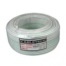 Коаксиальный кабель SAT-703 белый