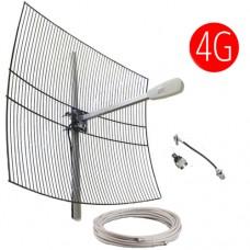 Комплект 3G / 4G 27 dBi  (Антенна, кабельная сборка)