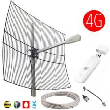 Комплект 3G/4G 27 dBi (Антенна, модем, кабельная сборка)