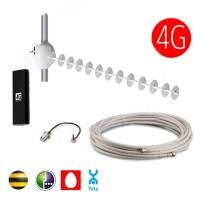 Комплект 4G 18 dBi (Антенна, Модем, Кабель)