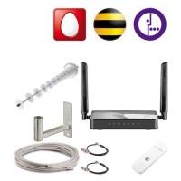 Комплект MIMO 4G 18 dBi (антенна, модем, кабель, WI-FI, Сим, кронштейн)