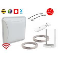 Комплект Petra BB MIMO 4G 2x15 dBi (антенна, модем, кабель, WI-FI, Сим, кронштейн)