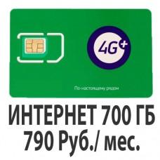 Сим-Карта Мегафон (Турбо Интернет 790) - 700 Гб.