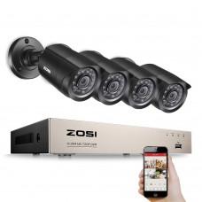 Комплект видеонаблюдения ZOSI 8CH HD-TVI 720P / 1080N